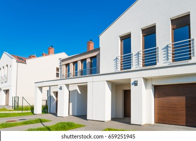 New modern residential development semi-detached house