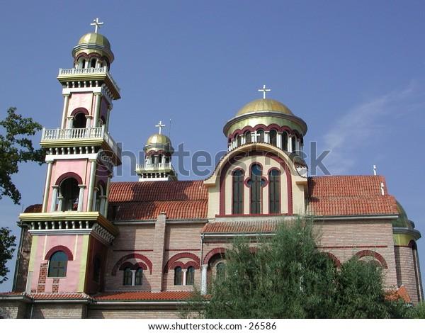new monastery. orthodoxe type