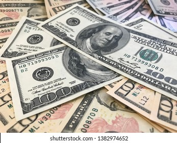 New money stacked for prosperity