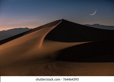 new Moon over Death Valley