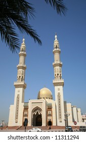 New Mosque With Gold  Dome in Sharjah UAE
