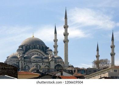 The New Mosque (Yeni Cami) in the city of Istanbul in Turkey