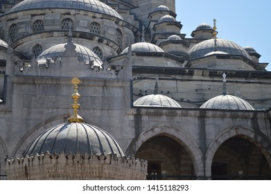 the new mosque Yeni cami at eminonu district in Istanbul Turkey