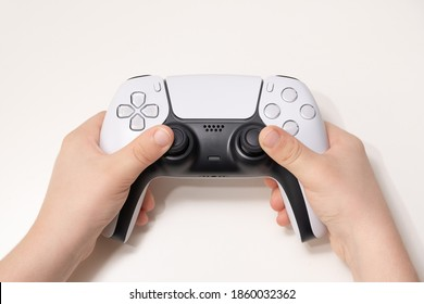 New Next Gen game controller on Kids Hand.