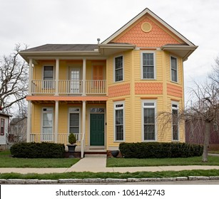 New Old Fashioned Orange & Yellow House