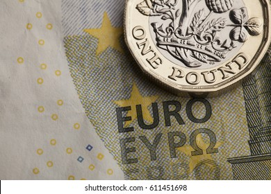New one pound sterling coin and euro exchange rate