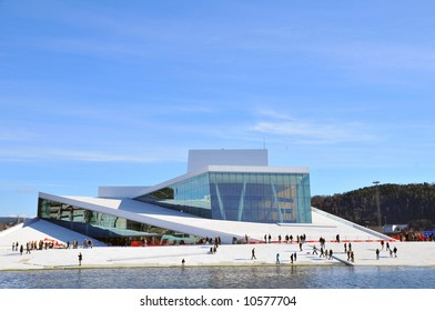 The New Opera House in Oslo Norway