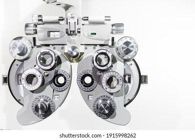new ophthalmology equipment on a white background