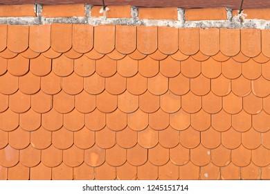 New orange roof tiles background texture