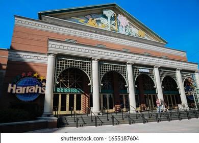 New Orlean,Luisiana,USA:17January 2020: Harrahs casino at New Orleans, Louisiana in sunny day.