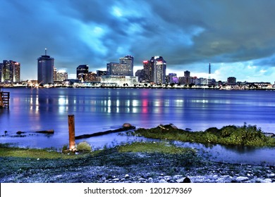 New Orleans city skyline from Algiers point