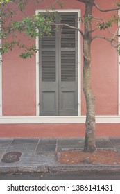New Orleans city street, urban, old, worn, doorway