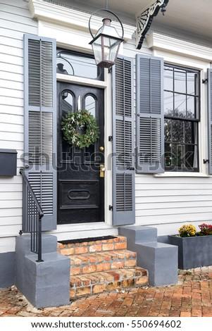 New Orleans Front Door Brick Steps Stock Photo Edit Now 550694602
