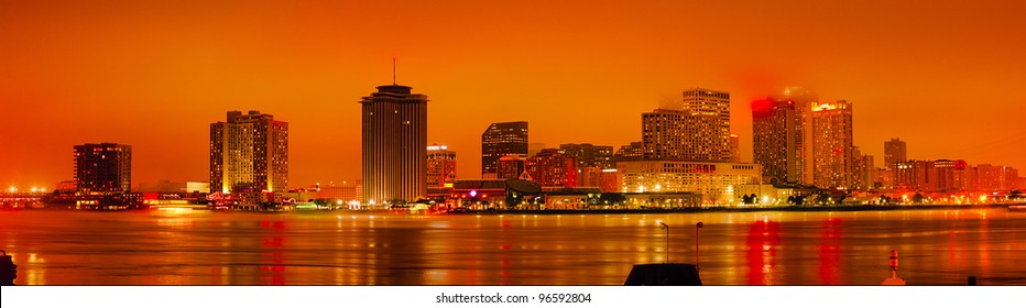 New Orleans just after sunset