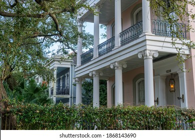 NEW ORLEANS, LA - DECEMBER 2, 2020: Historic house in the Lower Garden District