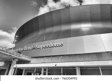 NEW ORLEANS, LA - JANUARY 2016: Mercedes Benz Superdome, a home of NFL's New Orleans Saints American football.