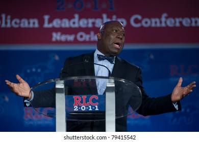 NEW ORLEANS, LA - JUNE 16: Texas Congressional candidate Michael Williams addresses the Republican Leadership Conference on June 16, 2011 at the Hilton Riverside New Orleans in New Orleans, LA.