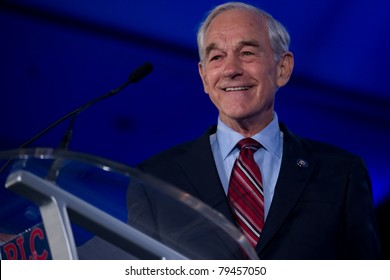 NEW ORLEANS, LA - JUNE 17: Presidential candidate Ron Paul addresses the Republican Leadership Conference on June 17, 2011 at the Hilton Riverside New Orleans in New Orleans, LA.