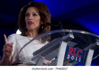 NEW ORLEANS, LA - JUNE 17: Presidential candidate Michele Bachmann addresses the Republican Leadership Conference on June 17, 2011 at the Hilton Riverside New Orleans in New Orleans, LA.
