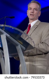 NEW ORLEANS, LA - JUNE 18: Steve Russell, author of We Got Him!, addresses the Republican Leadership Conference on June 18, 2011 at the Hilton Riverside New Orleans in New Orleans, LA.