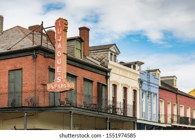 NEW ORLEANS, LA - OCTOBER 18, 2016: Architecture of the French Quarter in New Orleans, Louisiana.