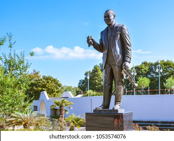 New Orleans, LA - Sep. 24, 2017: Louis Armstrong Monument in Louis Armstrong Park, New Orleans, Louisiana.