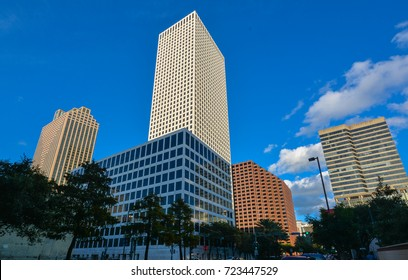 New Orleans, LA - Sep. 24, 2017: One Shell Square - a 51-story, 697-foot skyscraper. It is the tallest building in both the city of New Orleans and the state of Louisiana.