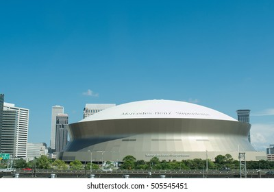 New Orleans, LA , September 17, 2016: Mercedes Benz Superdome, a home of NFL's New Orleans Saints American football