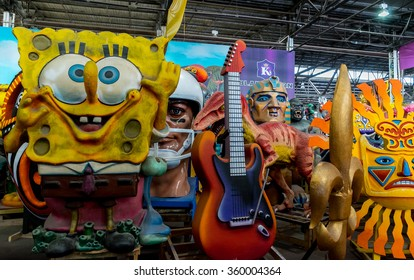 New Orleans, LA USA - 06/01/2015 - New Orleans Mardi Gras World Eclectic Collection