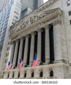 New Orleans, LA USA - 06/01/2015 - New York City Wall Street