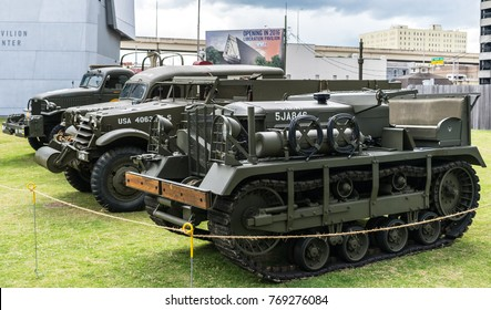 New Orleans, LA USA - 06/11/2015 -  World War II Military Vehicles