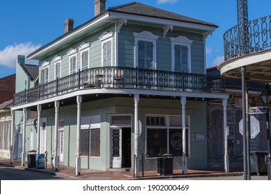 NEW ORLEANS, LA, USA - JANUARY 14, 2021: Historic Matassa's Market storefront in the French Quarter
