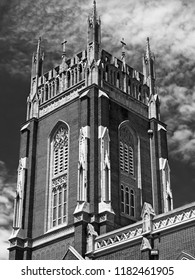 New Orleans, LA USA - May 9, 2018  -  Holy Name Of Jesus Catholic Church Loyola Campus off of St. Charles Ave 2 /v&W