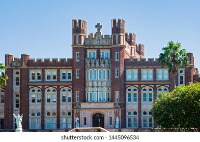 NEW ORLEANS, LA/USA –JUNE 13, 2019: Marquette Hall, one of Loyola University's original buildings and site of its first library, now functions primarily as an administrative center.