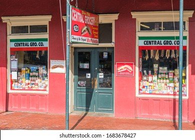 New Orleans, LA/USA - 3/19/2020: Central Grocery, Home of the Muffaletta, in French Quarter