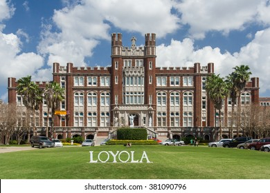 New Orleans, LA/USA - circa March 2009: Main building and entrance to Loyola University in New Orleans, Louisiana