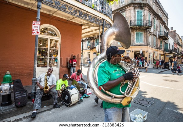 NEW ORLEANS, LOUISIANA - AUGUST 25: Pubs and bars with neon lights  in the French Quarter, New Orleans on August 25, 2015.