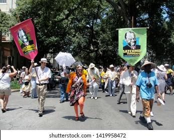 New Orleans, Louisiana - August 7, 2011: Satchmo Summerfest parade