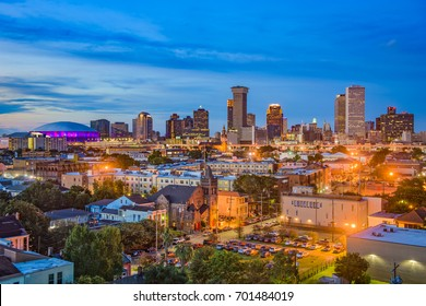 New Orleans, Louisiana downtown city skyline.
