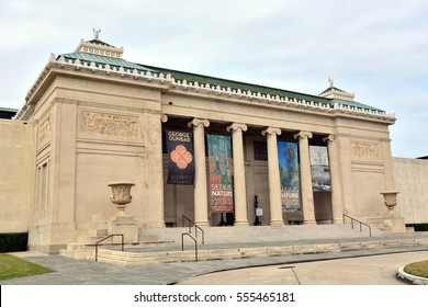 NEW ORLEANS, LOUISIANA, JANUARY 13: The New Orleans Museum Of Art, located in New Orleans City Park, on January 13, 2017, in New Orleans, Louisiana.