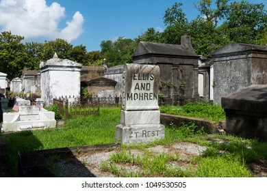 New Orleans, Louisiana - June 18, 2014: Tombs at the Lafayette Cemetery No. 1 in the city of New Orleans, Louisiana, USA