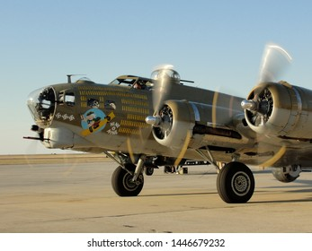 New Orleans, Louisiana - March 25, 2010: B-17 Flying Fortress bomber