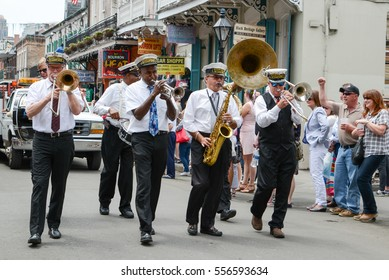 New Orleans, Louisiana, USA - April 4, 2015:    part of the annual Easter Parade in New Orleans, Louisiana.
