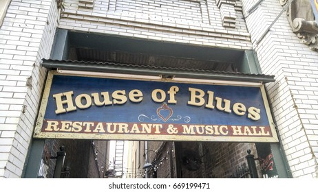 New Orleans, Louisiana, USA - December 17, 2015: House of Blues