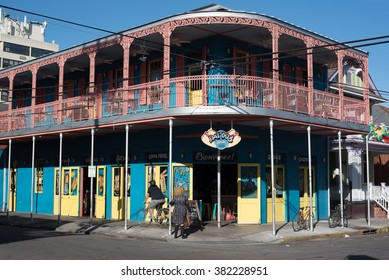 NEW ORLEANS, LOUISIANA USA - FEBRUARY 18, 2016: historic buildings in the French Quarter in New Orleans, USA.