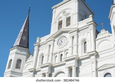 NEW ORLEANS, LOUISIANA USA - FEBRUARY 18, 2016: St. Louis Cathedral in the French Quarter New Orleans, USA.