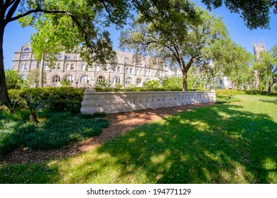 NEW ORLEANS, LOUISIANA USA - MAY 4,2014: Tulane University, founded in 1834, is a private nonsectarian research university located in New Orleans.