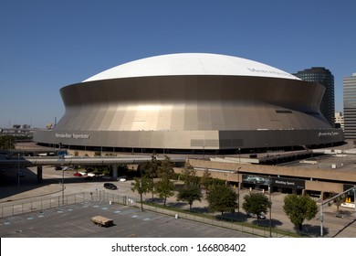 New Orleans, Louisiana, USA - October 9, 2013: Superdome is home to NFL's New Orleans Saints American football on October 9, 2013 in New Orleans, Louisiana