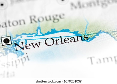 New Orleans, Louisiana, USA on a map.