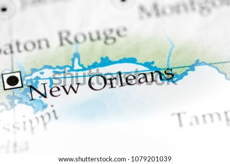 New Orleans Louisiana Usa On Map Stock Photo Edit Now 1079201039